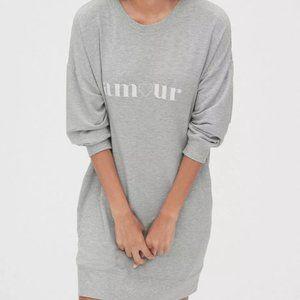 GAP Modal Graphic Sweatshirt Tunic Dress Grey